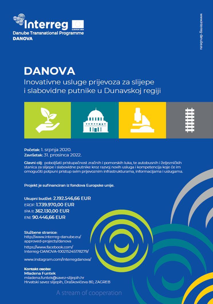 EU projekt DANOVA: Inovativne usluge prijevoza za slijepe i slabovidne putnike u dunavskoj regiji DTP3-543-1.2