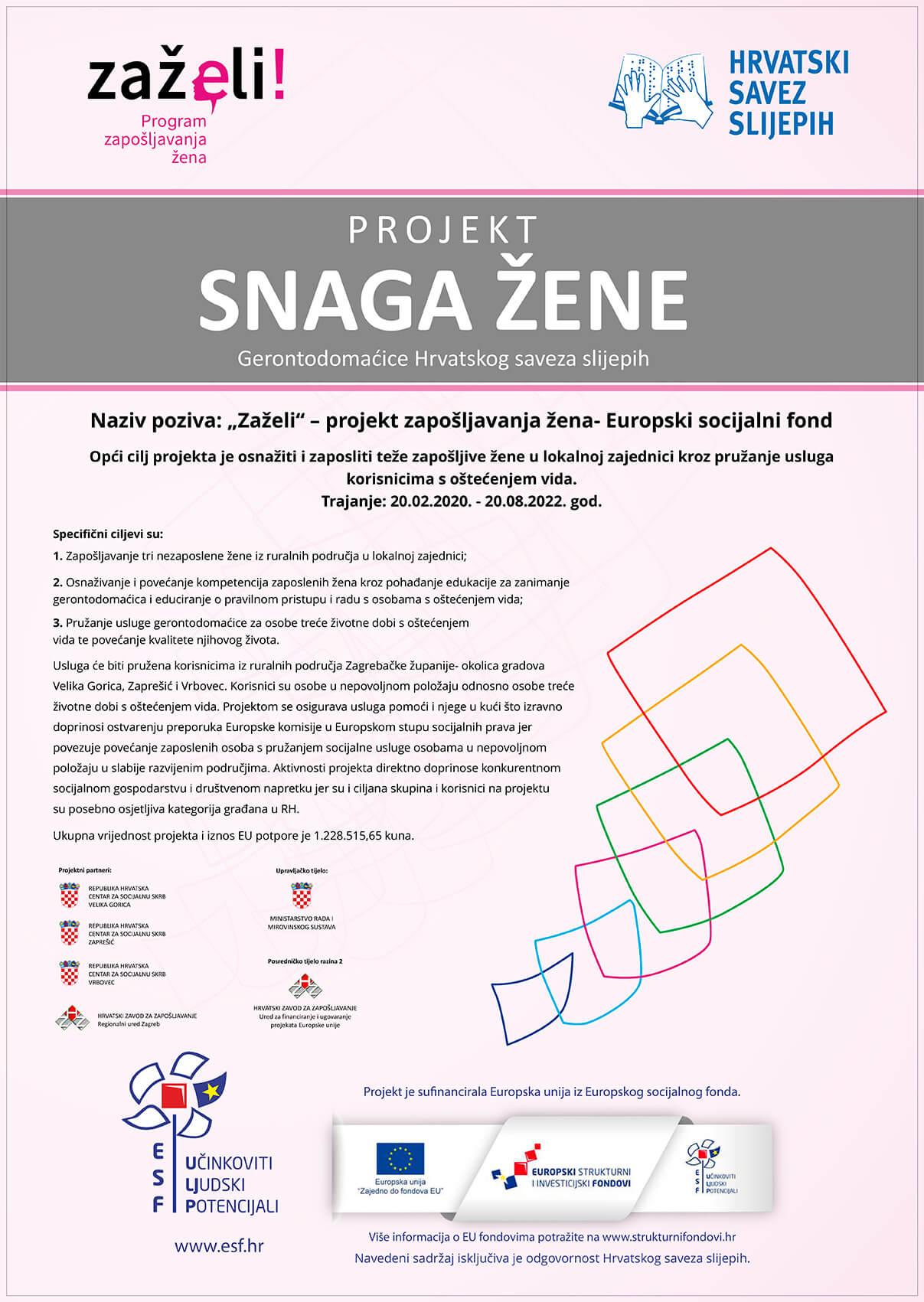 """EU projekt """"Snaga žene"""" UP.02.1.1.05.0316"""